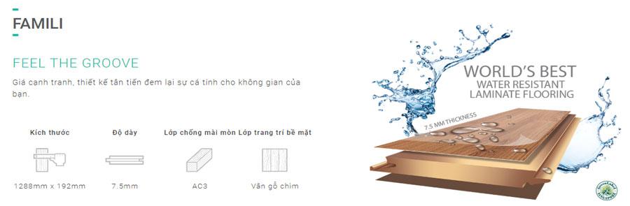 Sàn gỗ Inovar dày 7.5mm