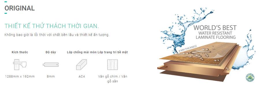 Sàn gỗ Inovar dày 8mm ký hiệu MF
