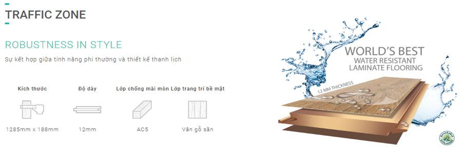 Sàn gỗ Inovar dày 12mm - Bản to - Ký hiệu TZ