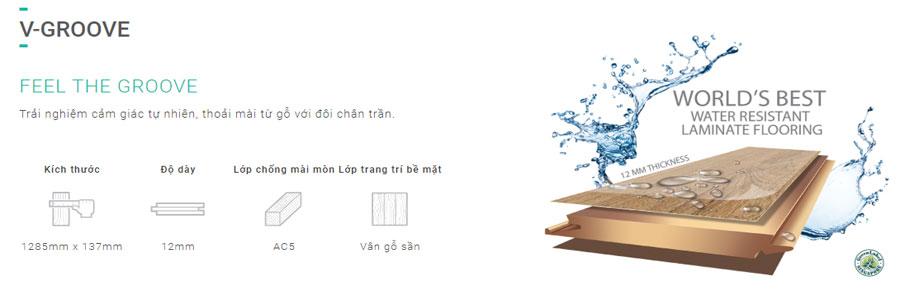 Sàn gỗ Inovar dày 12mm - Bản nhỏ - Ký hiệu