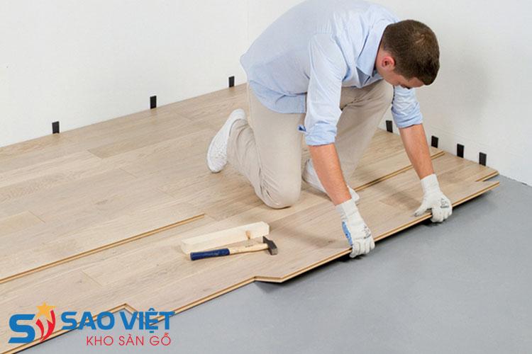 Lắp đặt sàn gỗ đúng kỹ thuật