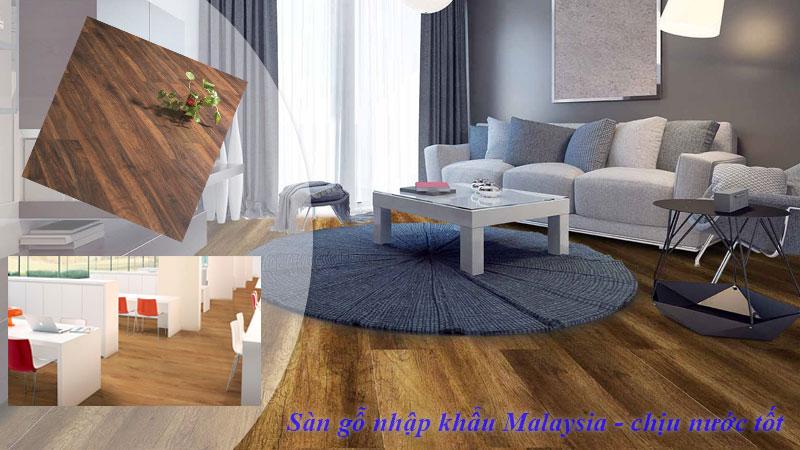 Sàn gỗ malaysia chịu nước tốt