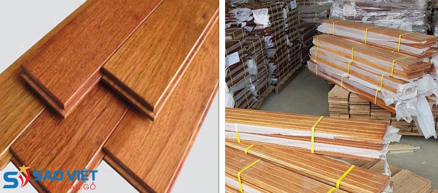sàn gỗ tự nhiên sản xuất nguyên thanh