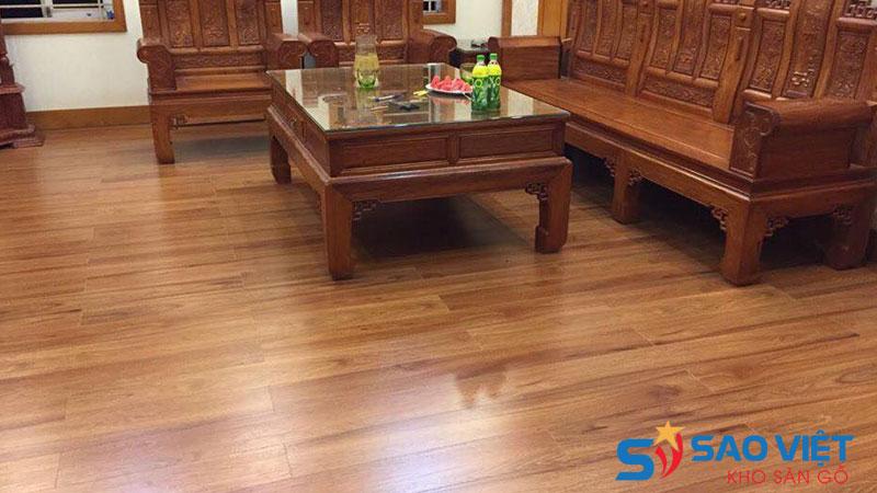 Sàn gỗ công nghiệp dày 8mm và 12mm